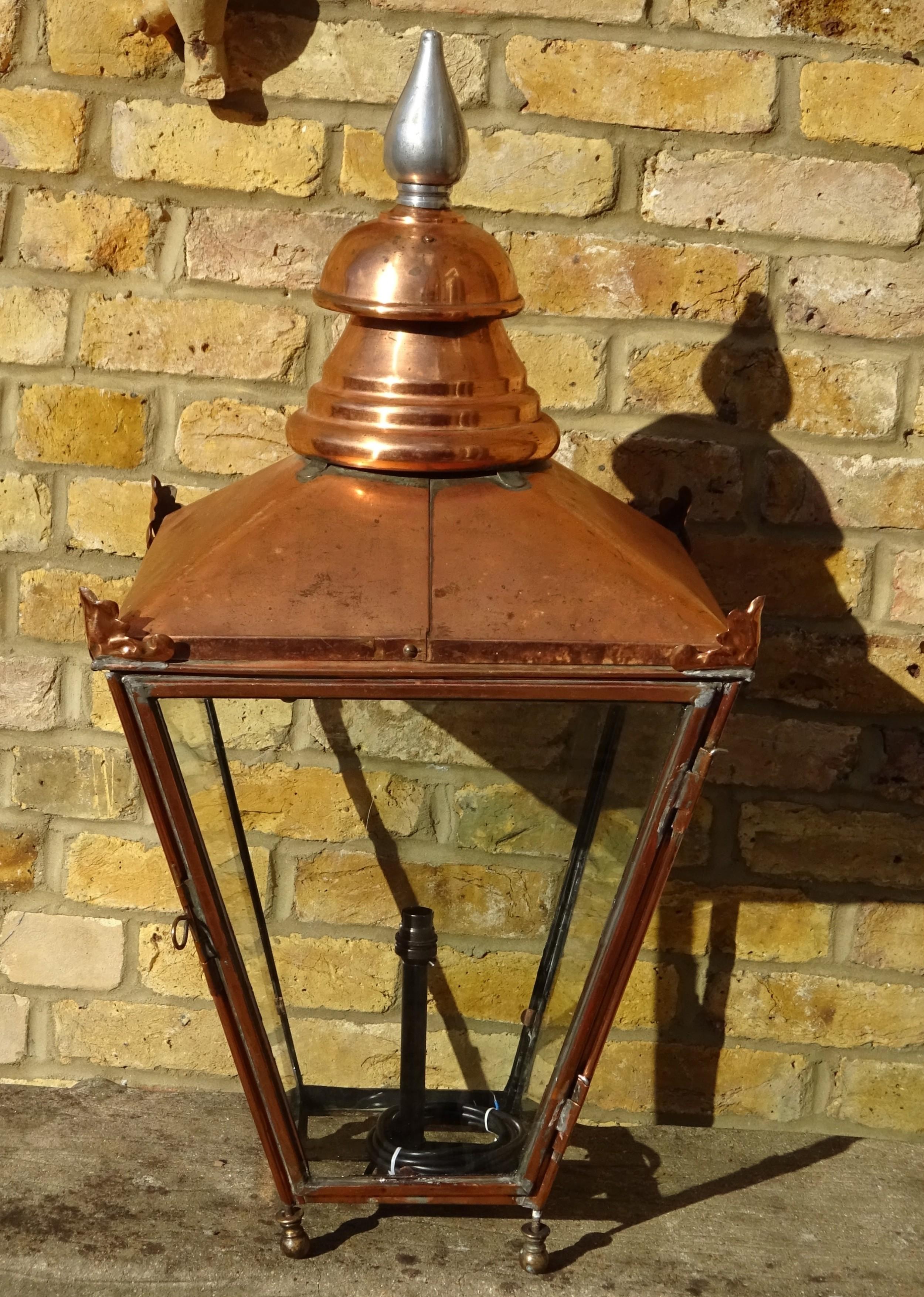 large victorian copper outside lantern