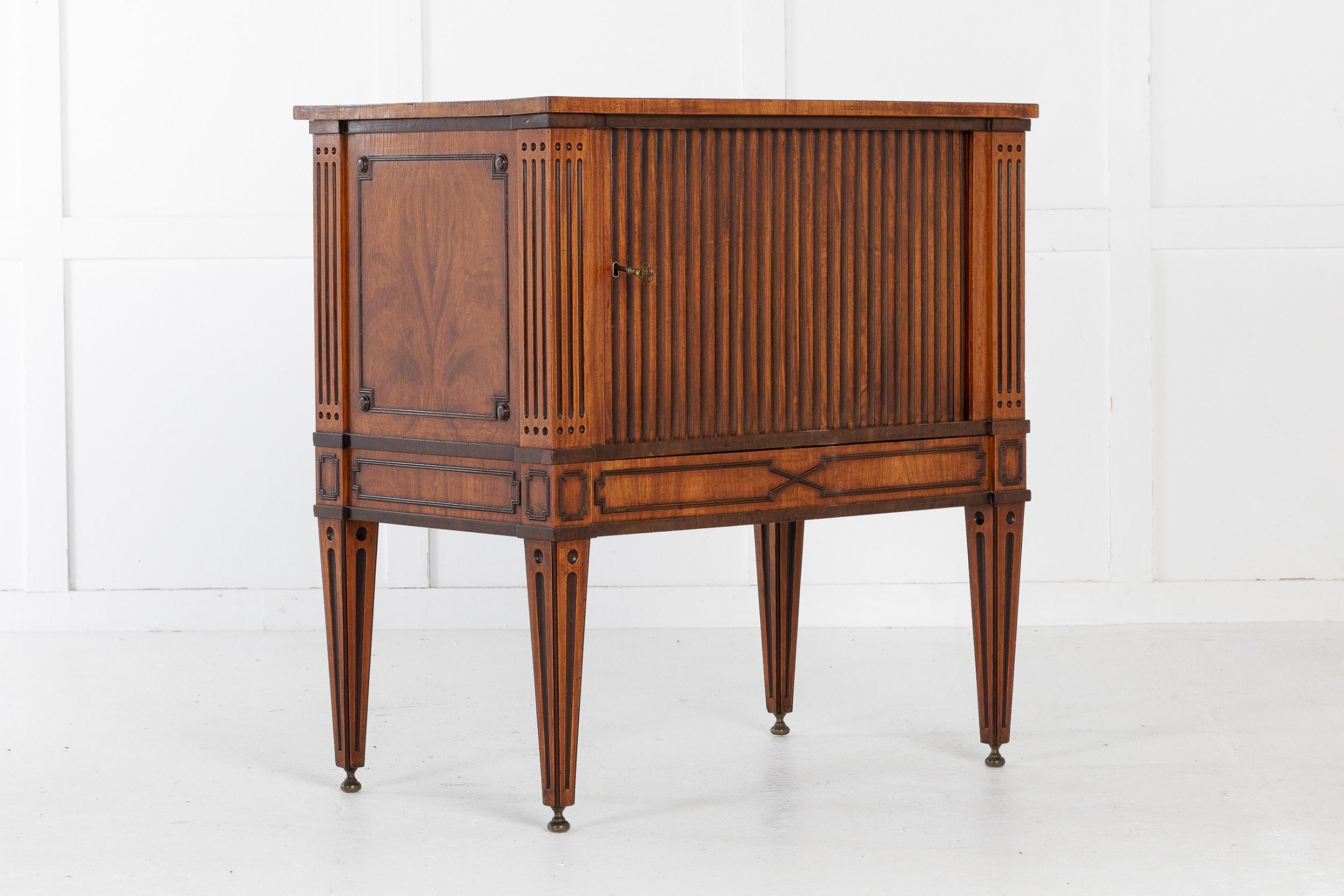 18th century dutch tambour cabinet