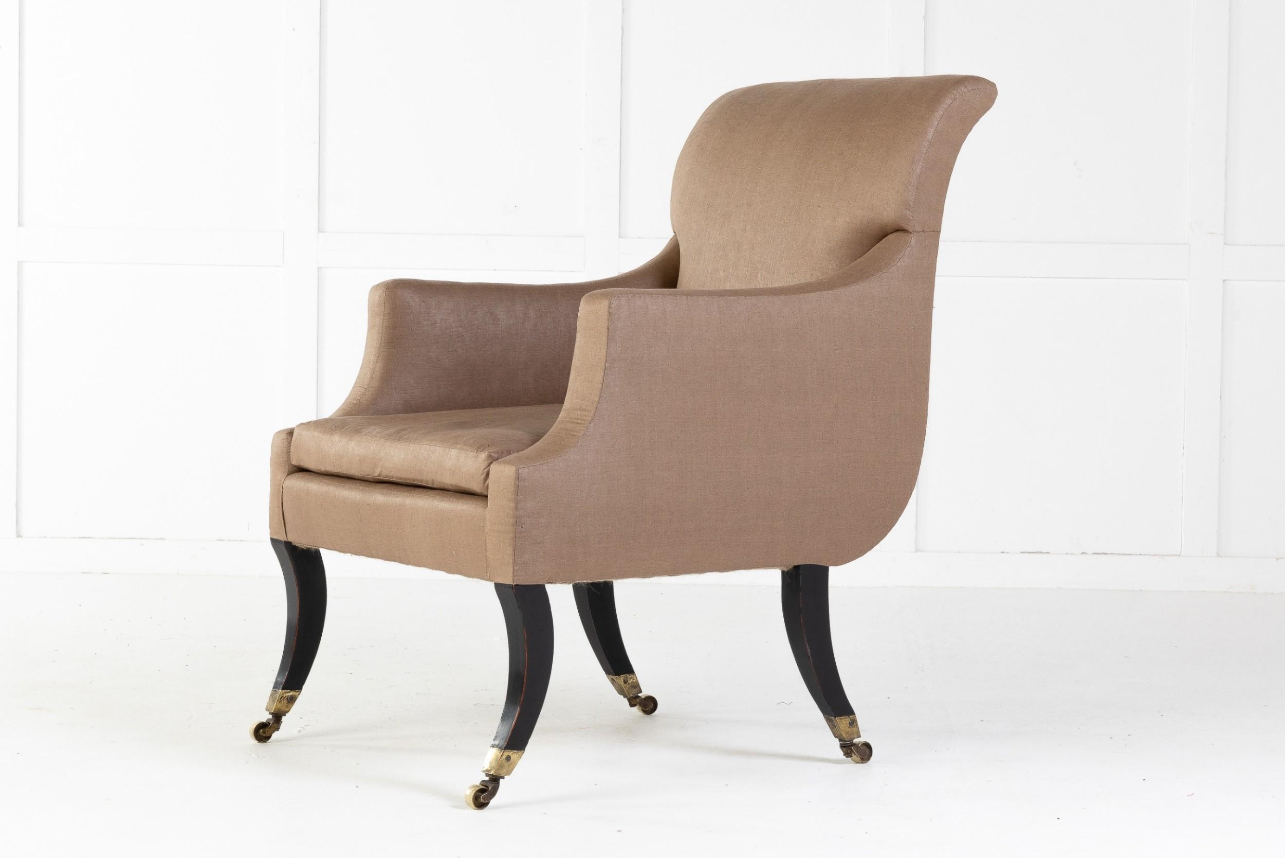 regency sabre leg library chair
