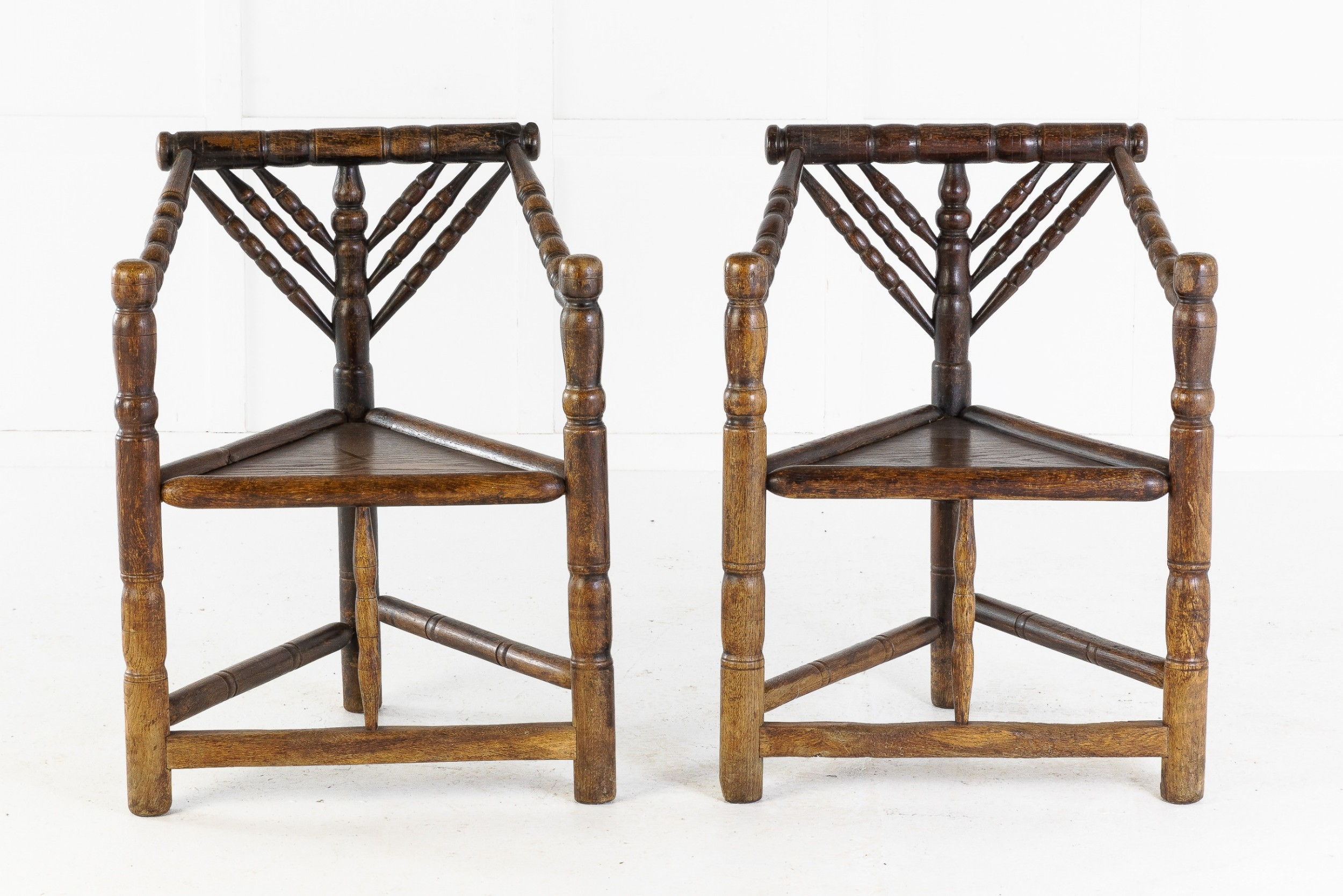 19th century pair of turners' chairs