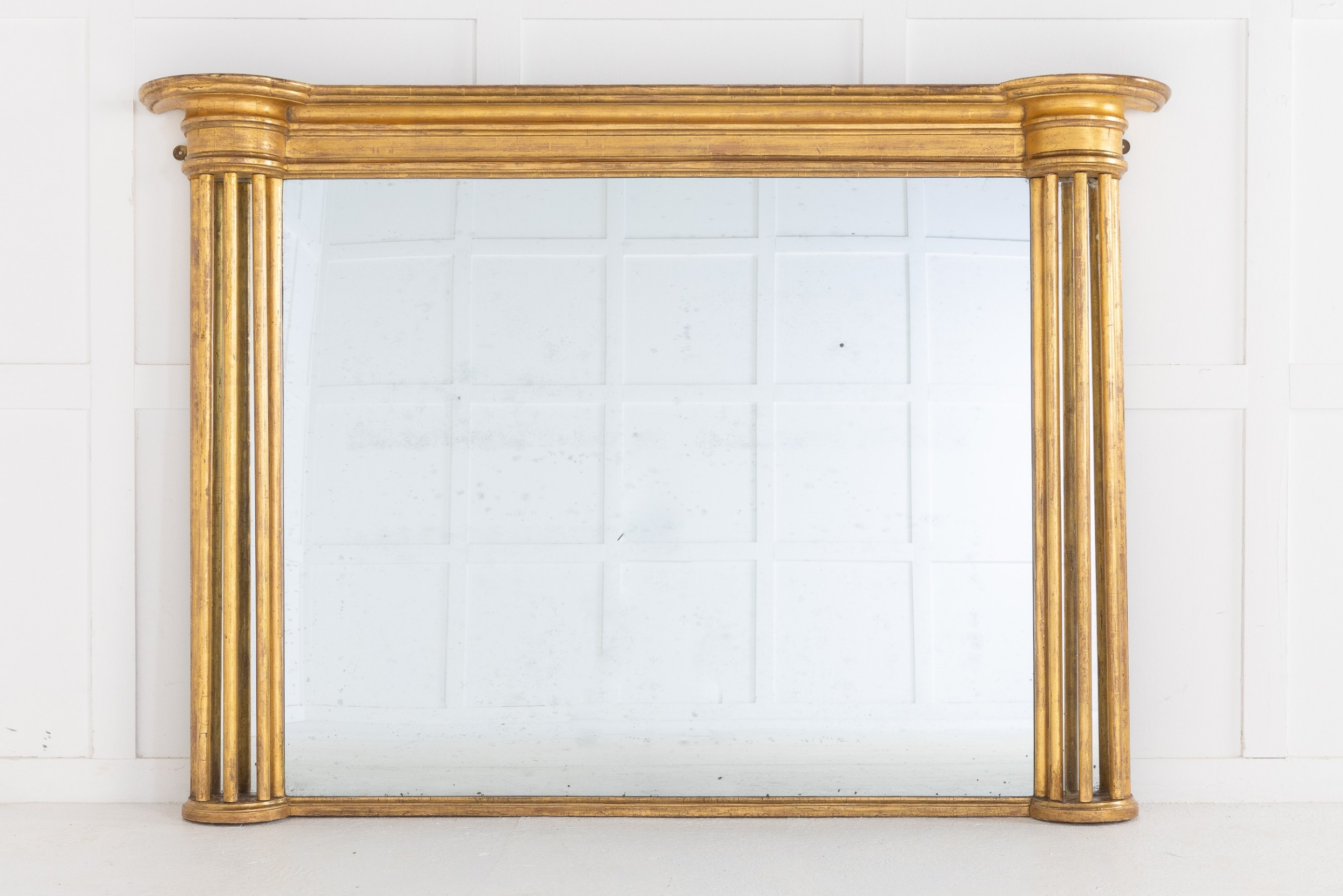 19th century regency giltwood overmantel mirror