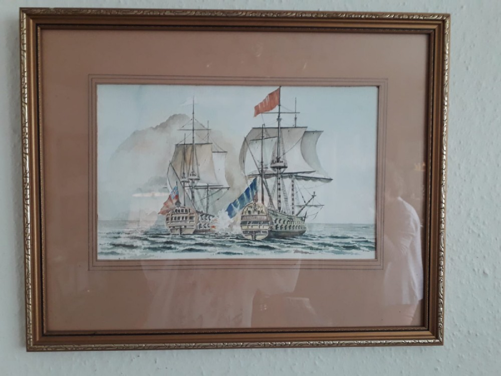 watercolour hms centurion