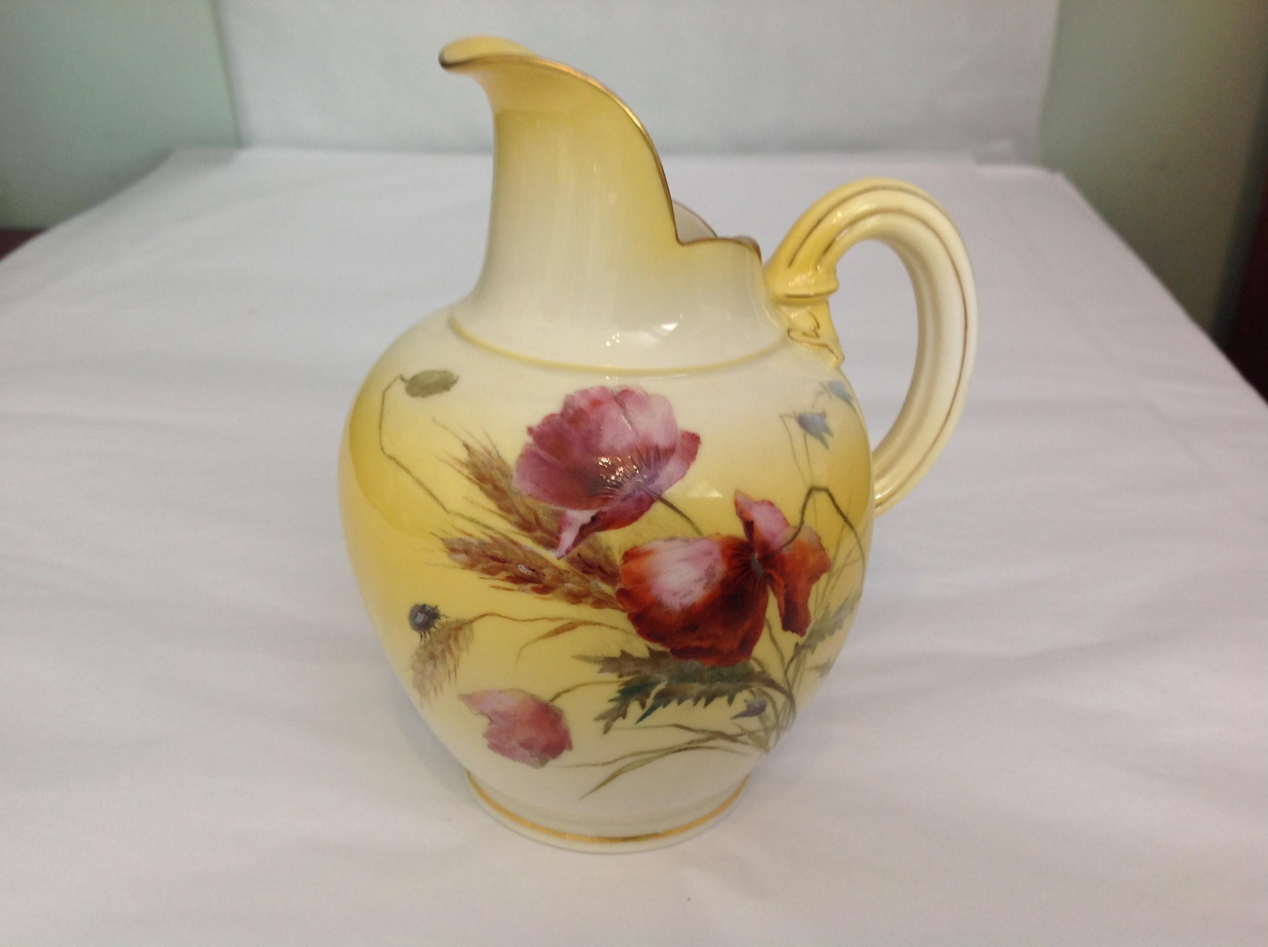 royal worcester flatback jug