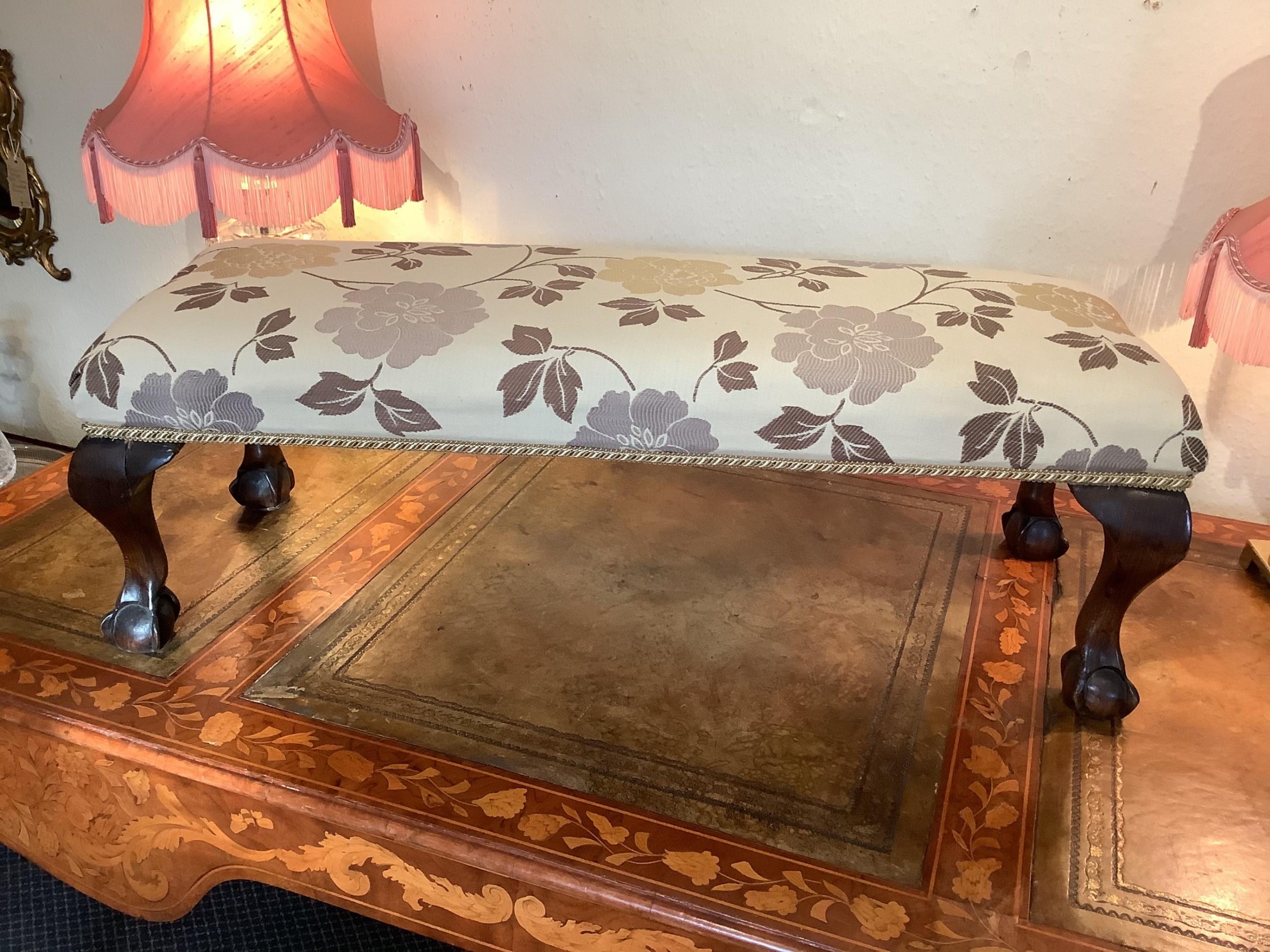 victorian mahogany double footstool