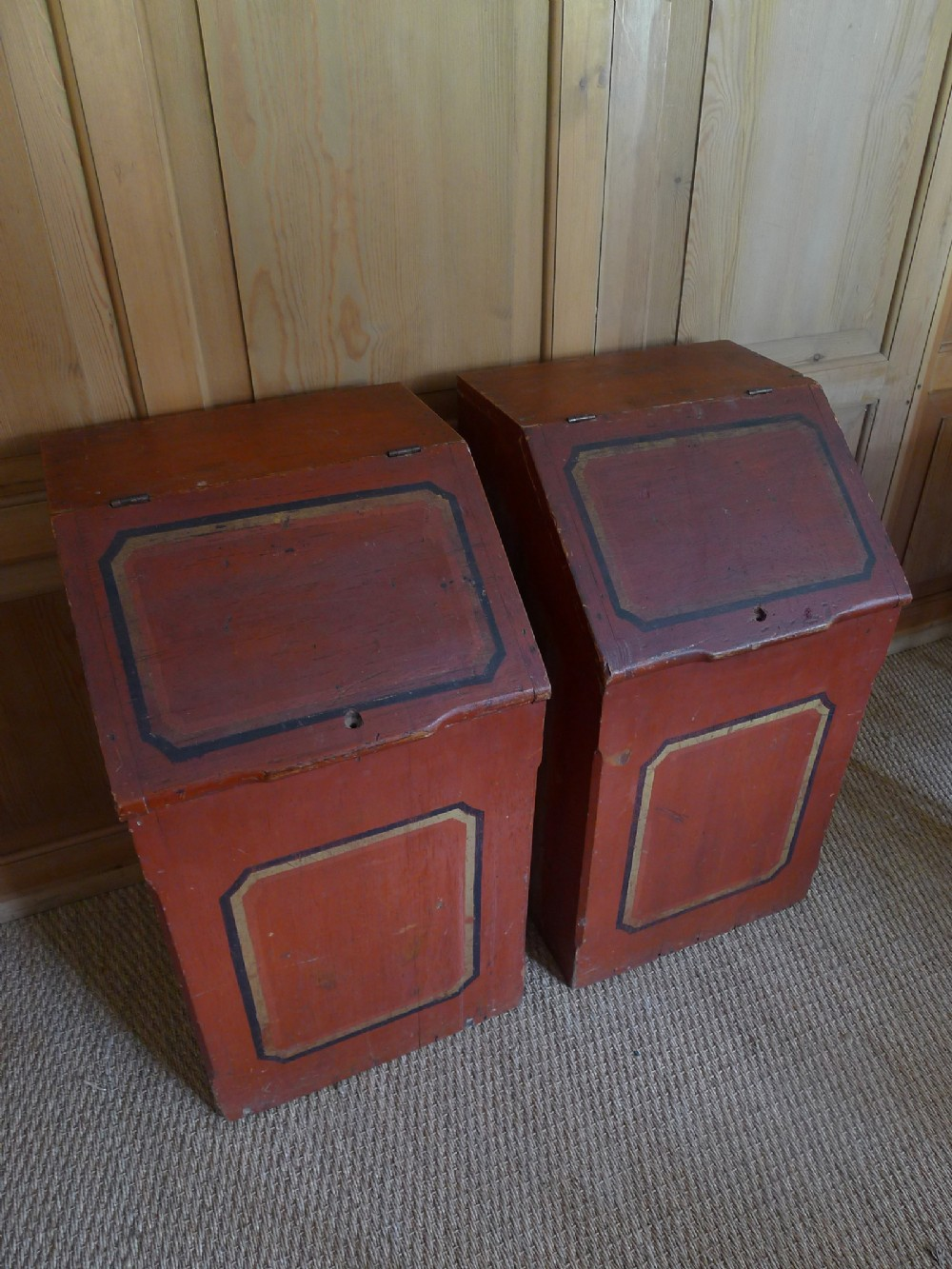 rare pair of 19th century american store bins