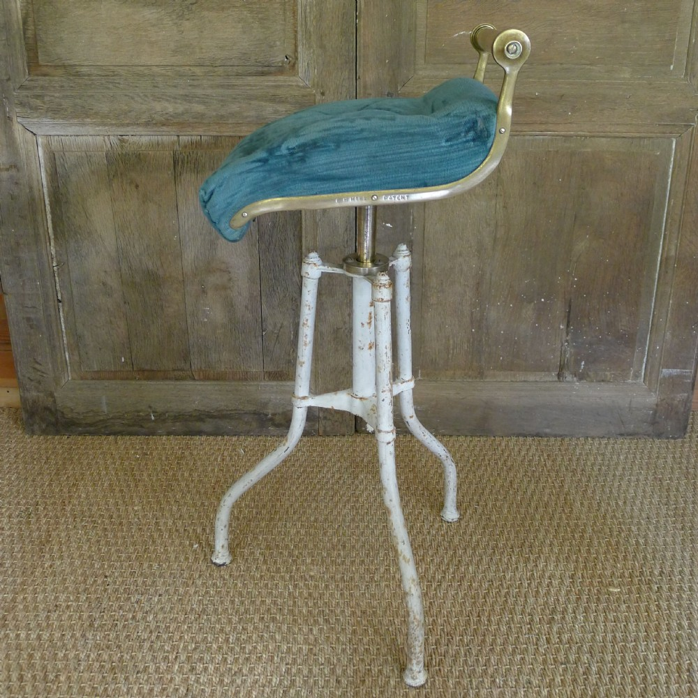 c h hare patent 19th century brass and upholstered piano stool & C .h. Hare Patent 19th Century Brass And Upholstered Piano Stool ... islam-shia.org
