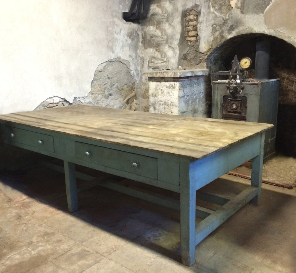 enormous georgian prep scullery table with impeccable provenance
