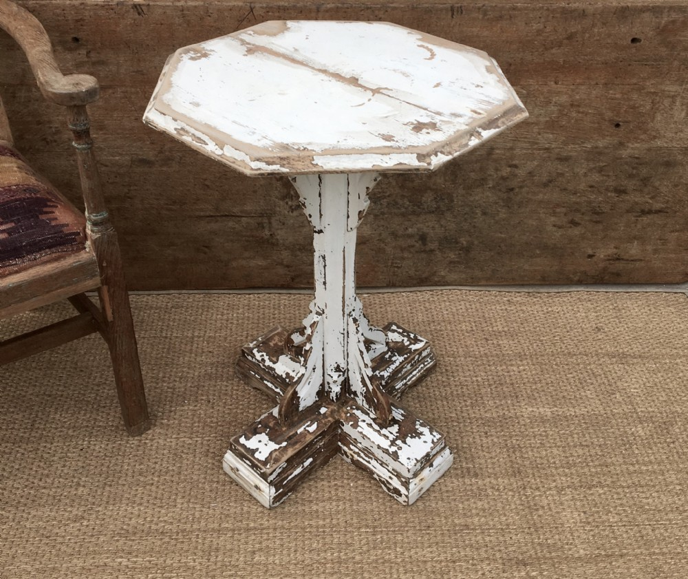gothic irish painted side table