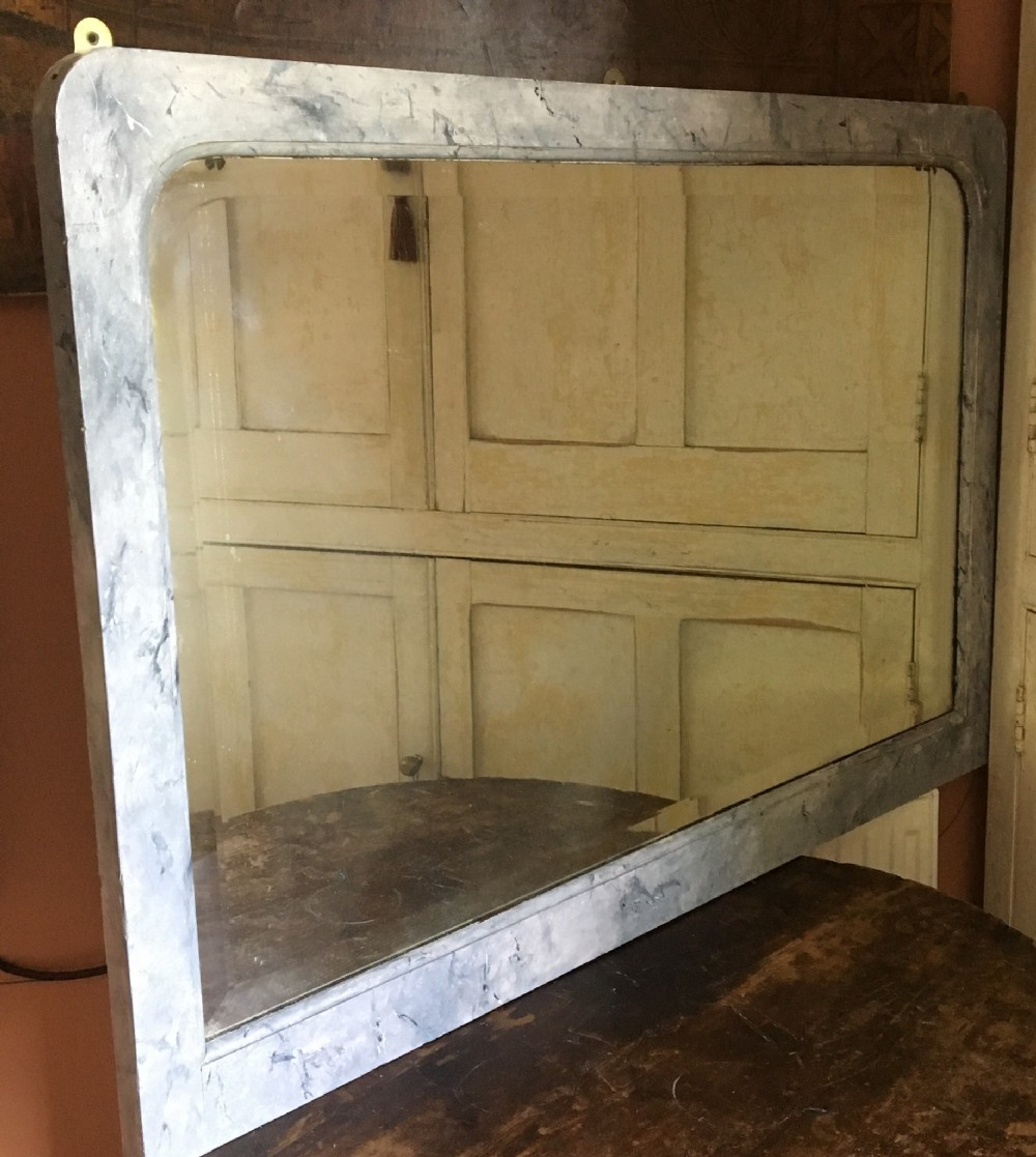 faux marble early 20th century mirror