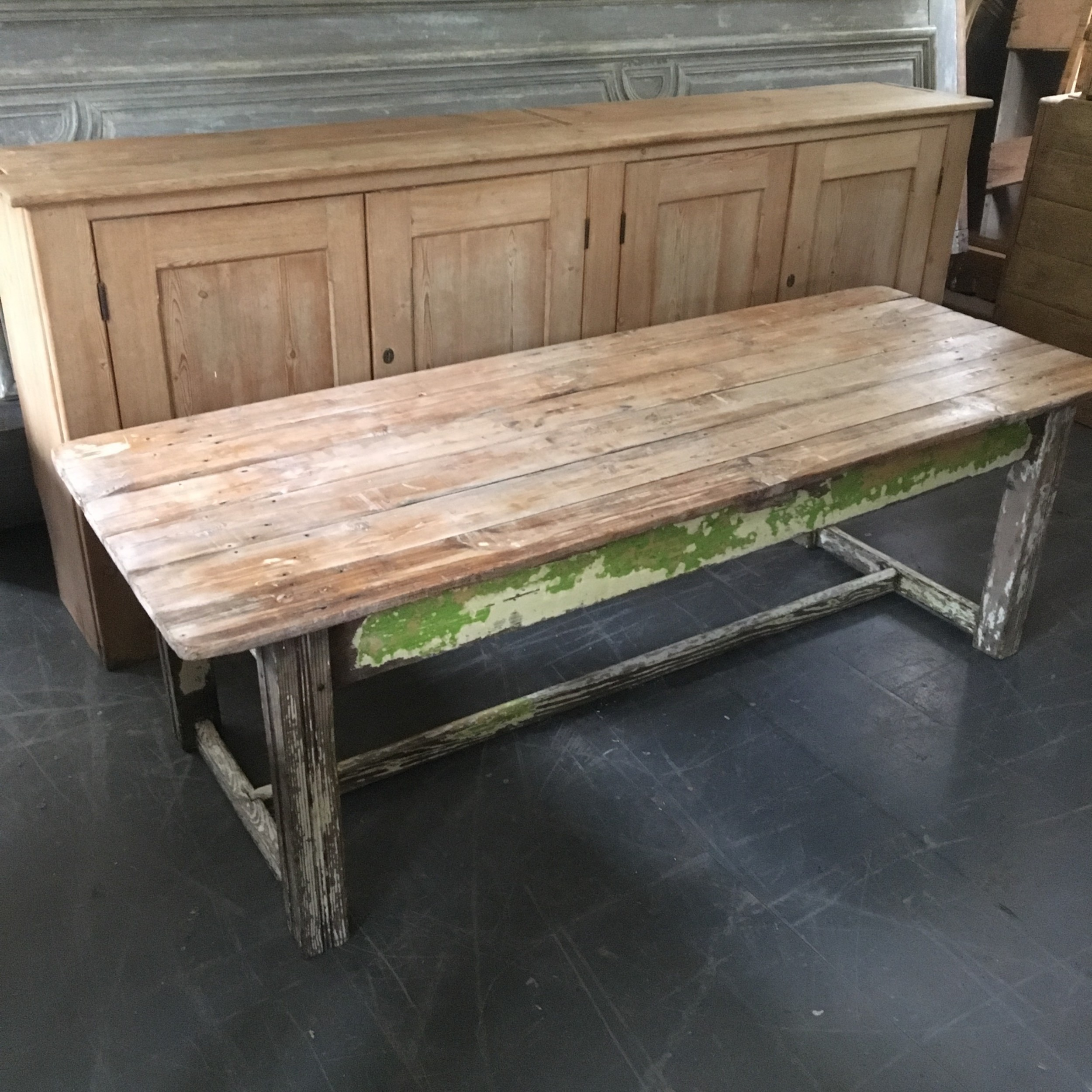 early 20th century pine coffee console table