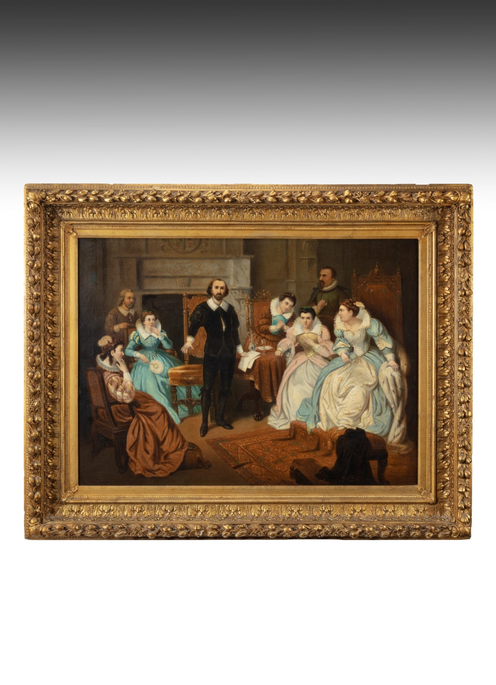 large 19th century british school oil on canvas signed j alvero