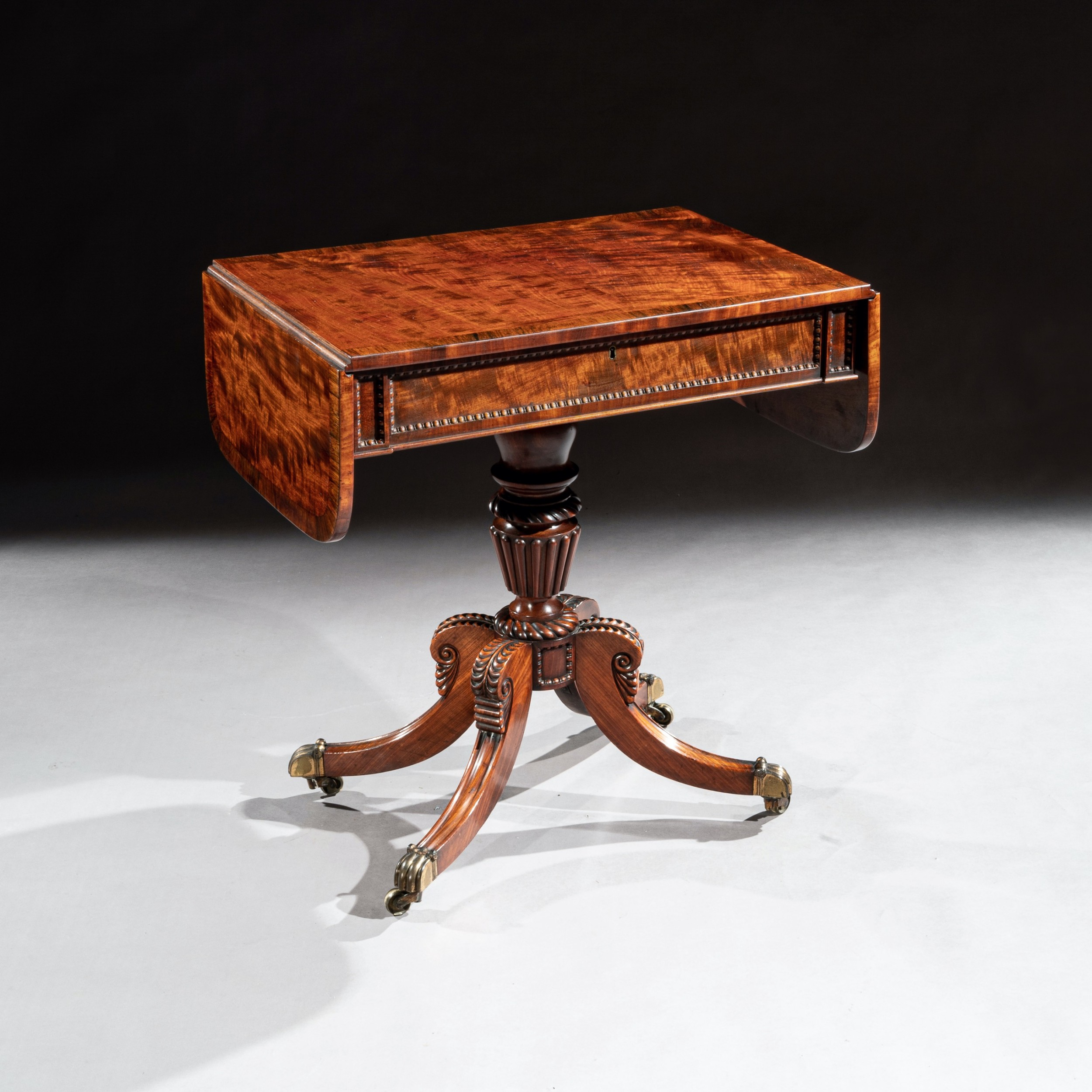 fine regency mahogany sofa table of small proportions william trotter
