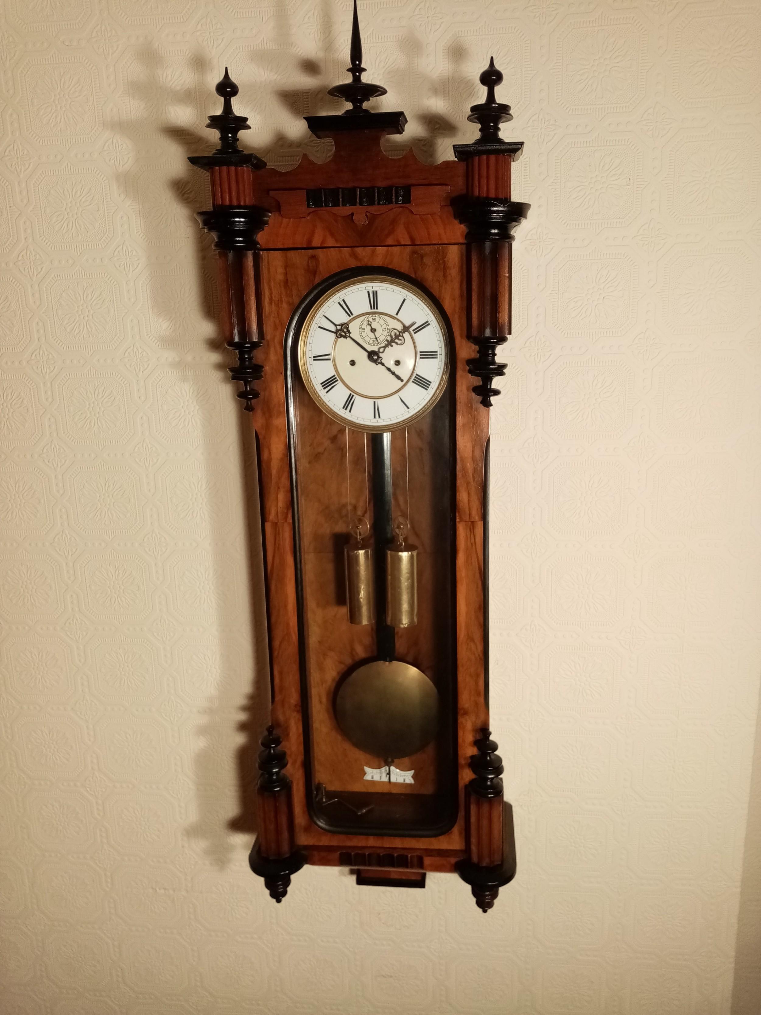 slimline doubleweight vienna wall clock