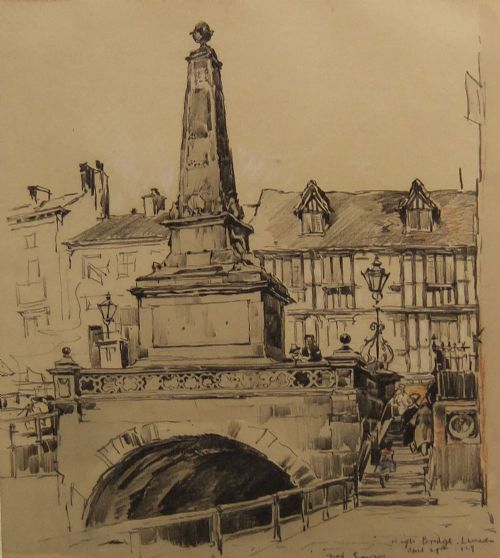 fred lawson high bridge lincoln drawing