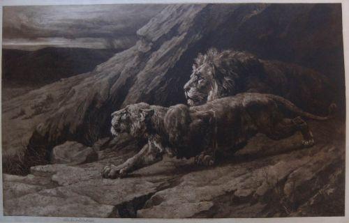 herbert dicksee raiders original etching