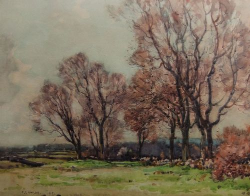 fred lawson watercolour morning near redmire early spring