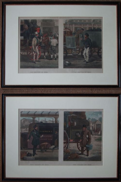 fore's contrasts charming pair of old prints dated 1852