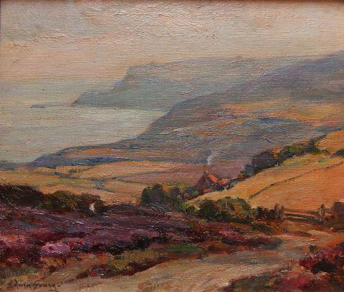 owen bowen robin hood's bay oil on canvas