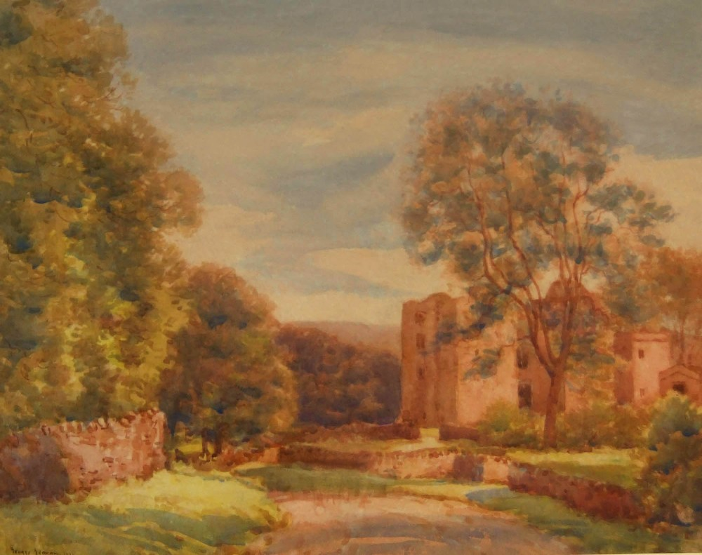 george graham barden tower yorkshire watercolour