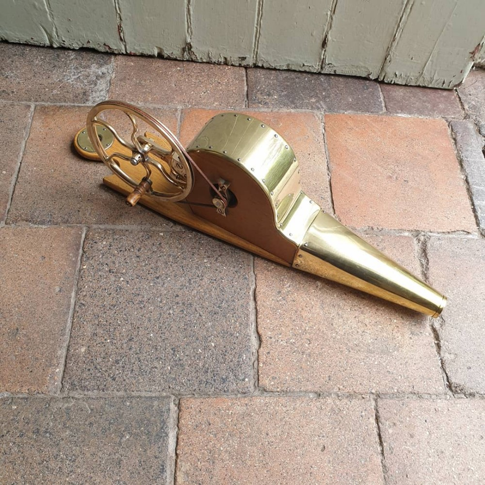 a good set of brass and elm fire bellows c1900 in working order