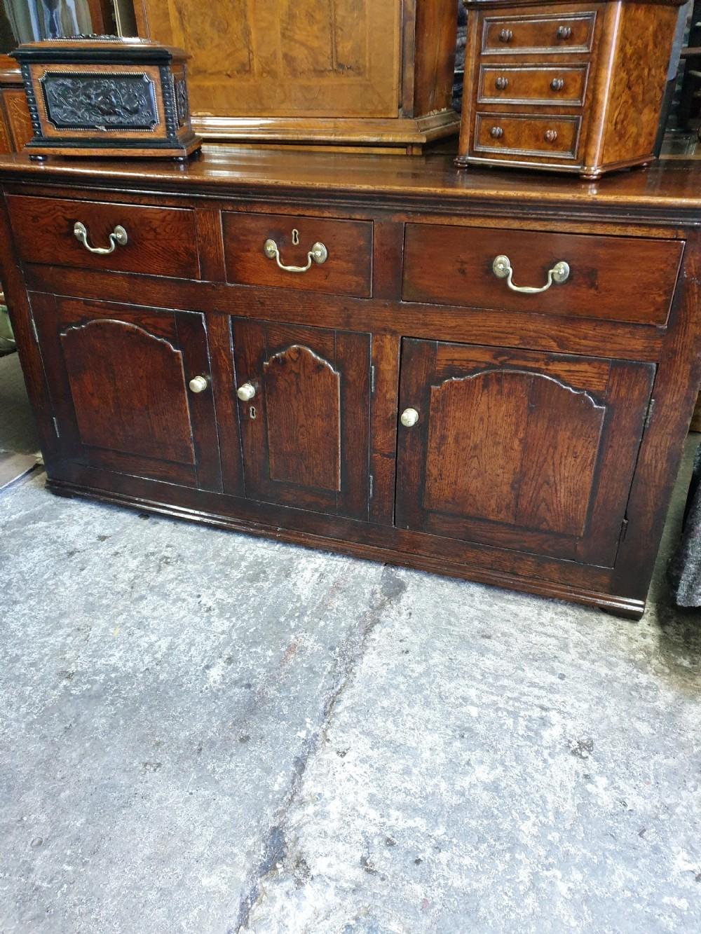 an mid 18th century welshoak dresser base of small sizegreat patina