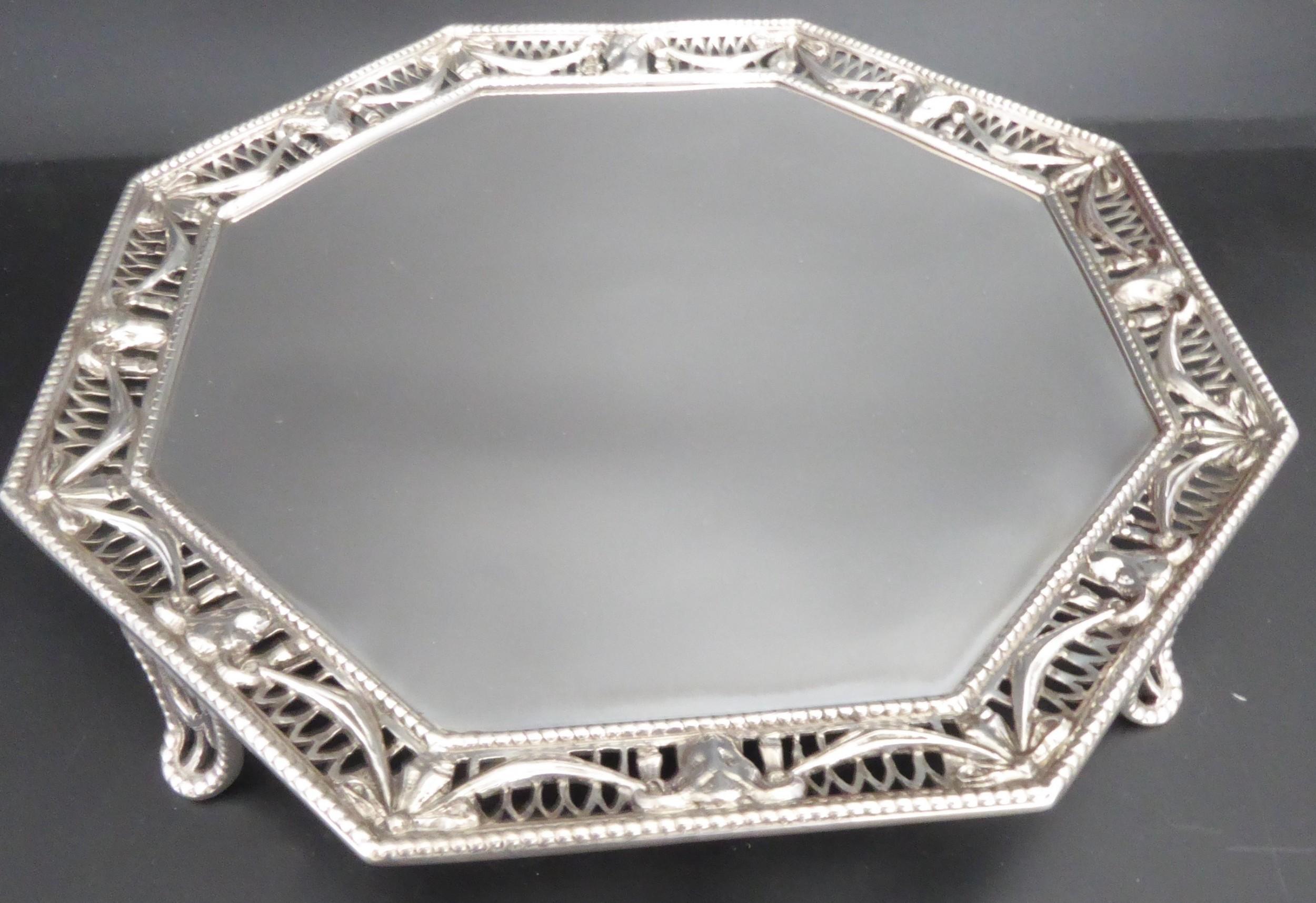 solid silver rams head salver 1919
