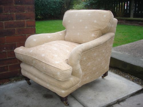 Antique Howard Style Deep Seated Armchair
