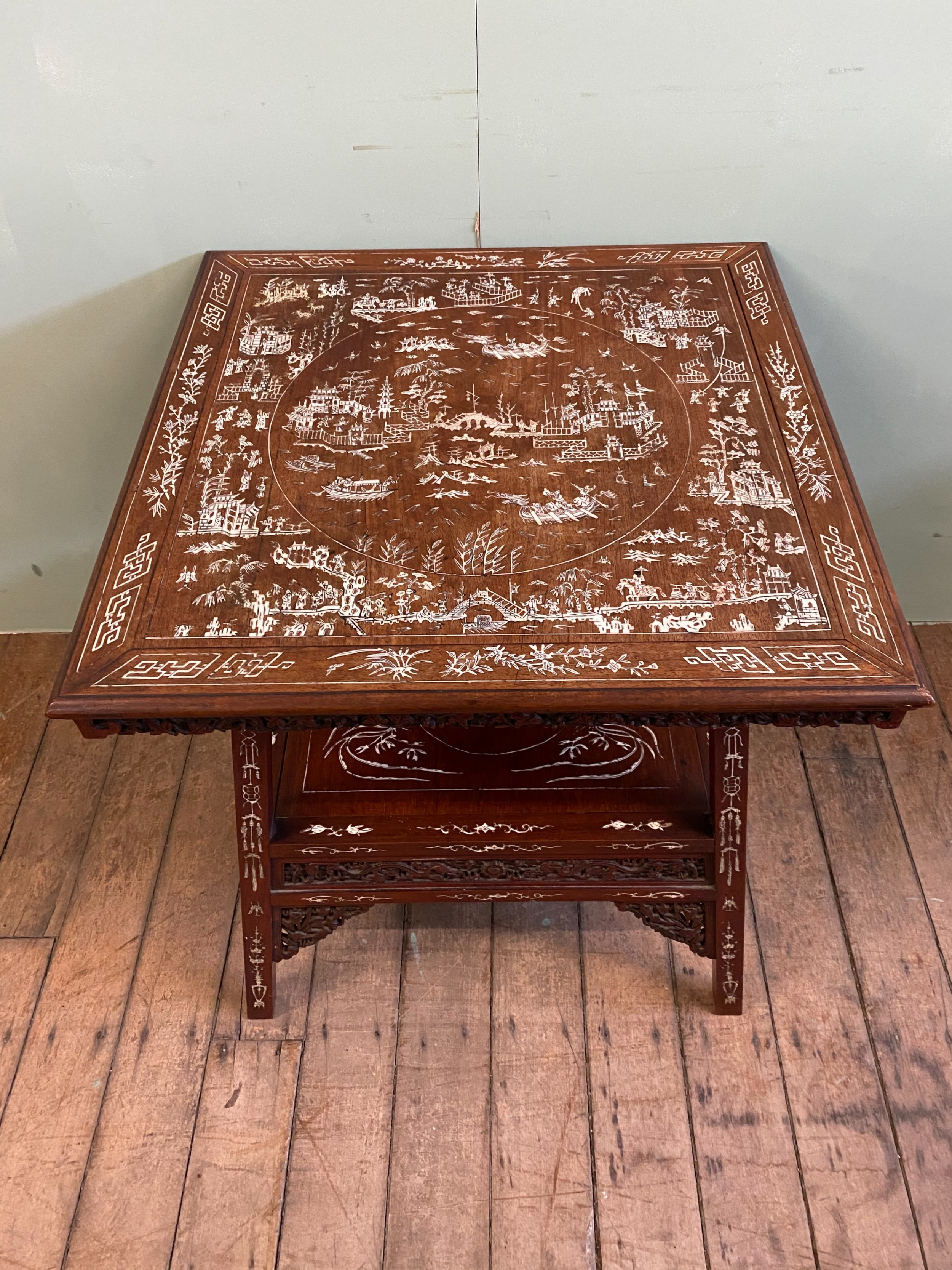 inlaid chinese side table