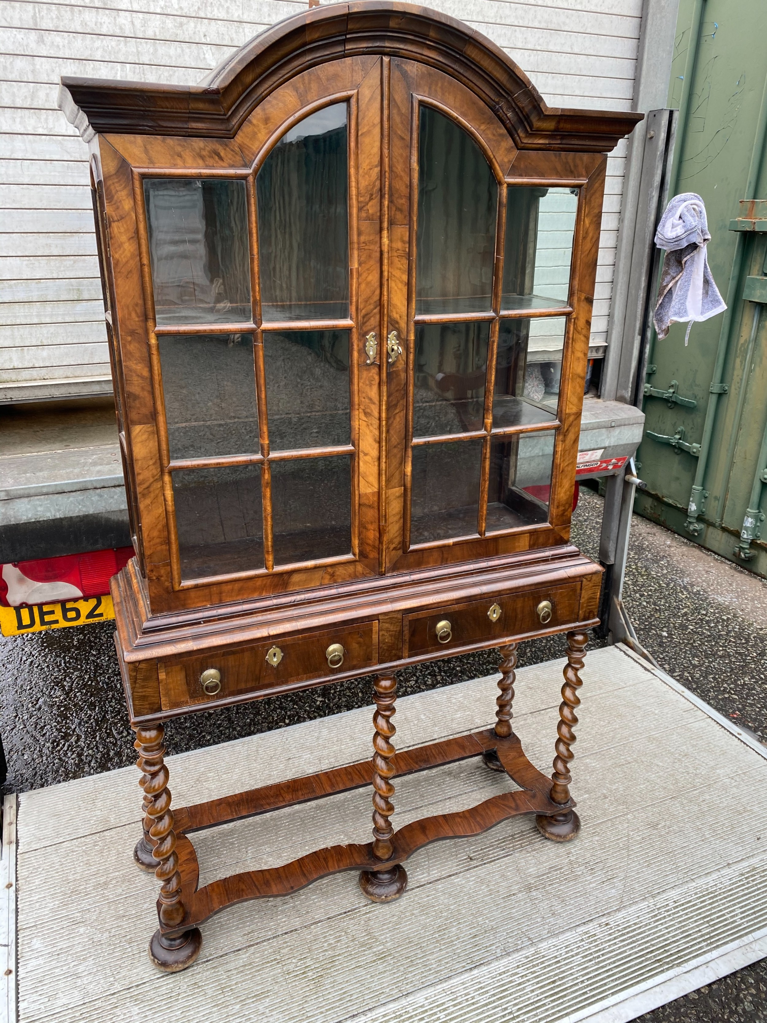 a william and mary style display cabinet