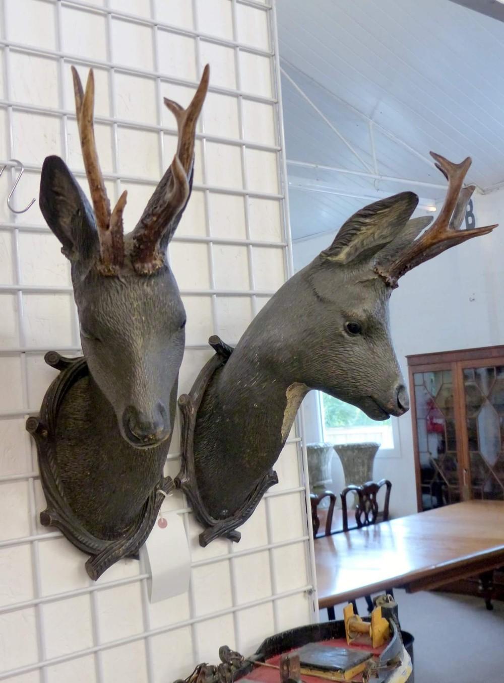 pair of deer heads