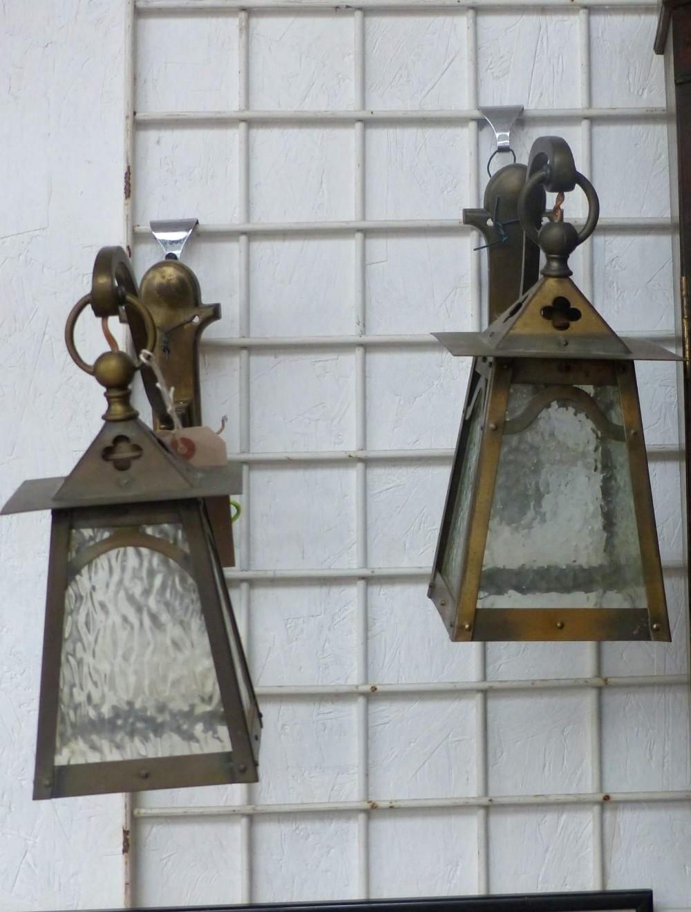 pair of hanging lanterns