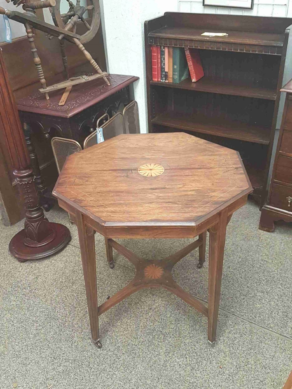 inlaid rosewood table