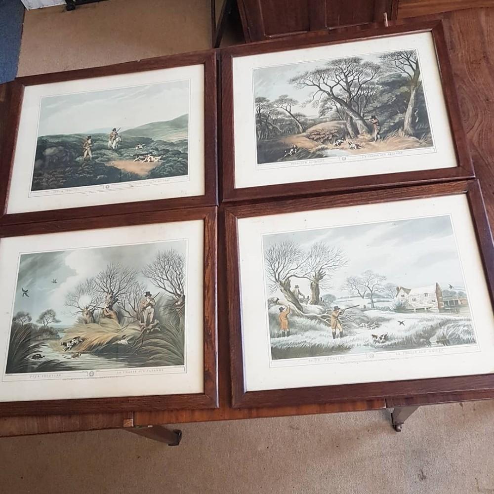 antique set of 4 engravings