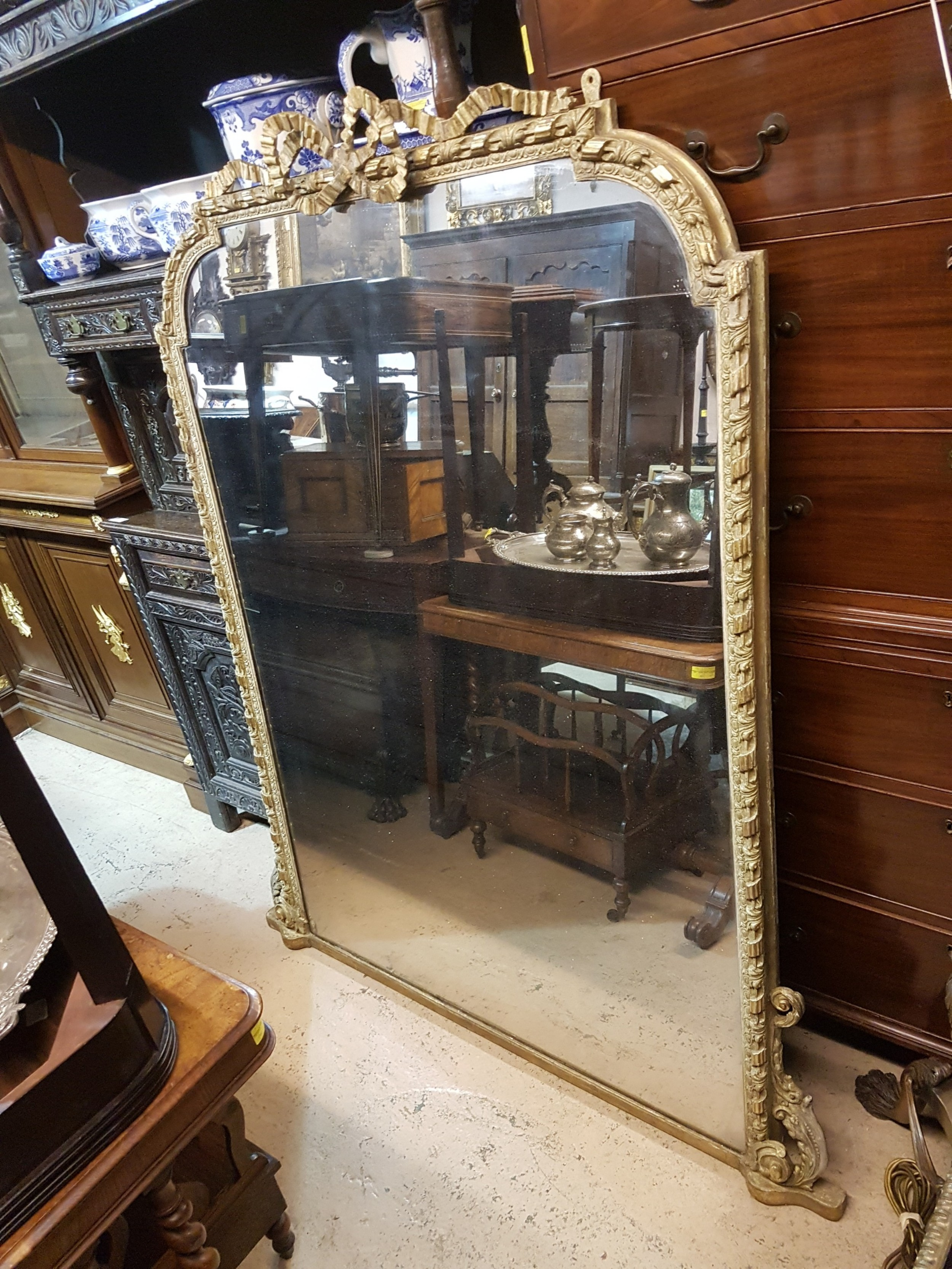 victorian gilt mirror