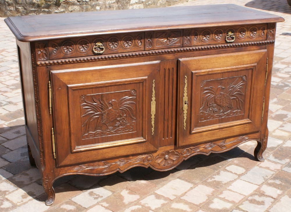 an superb early 19th century antique french breton chestnut buffet sideboard