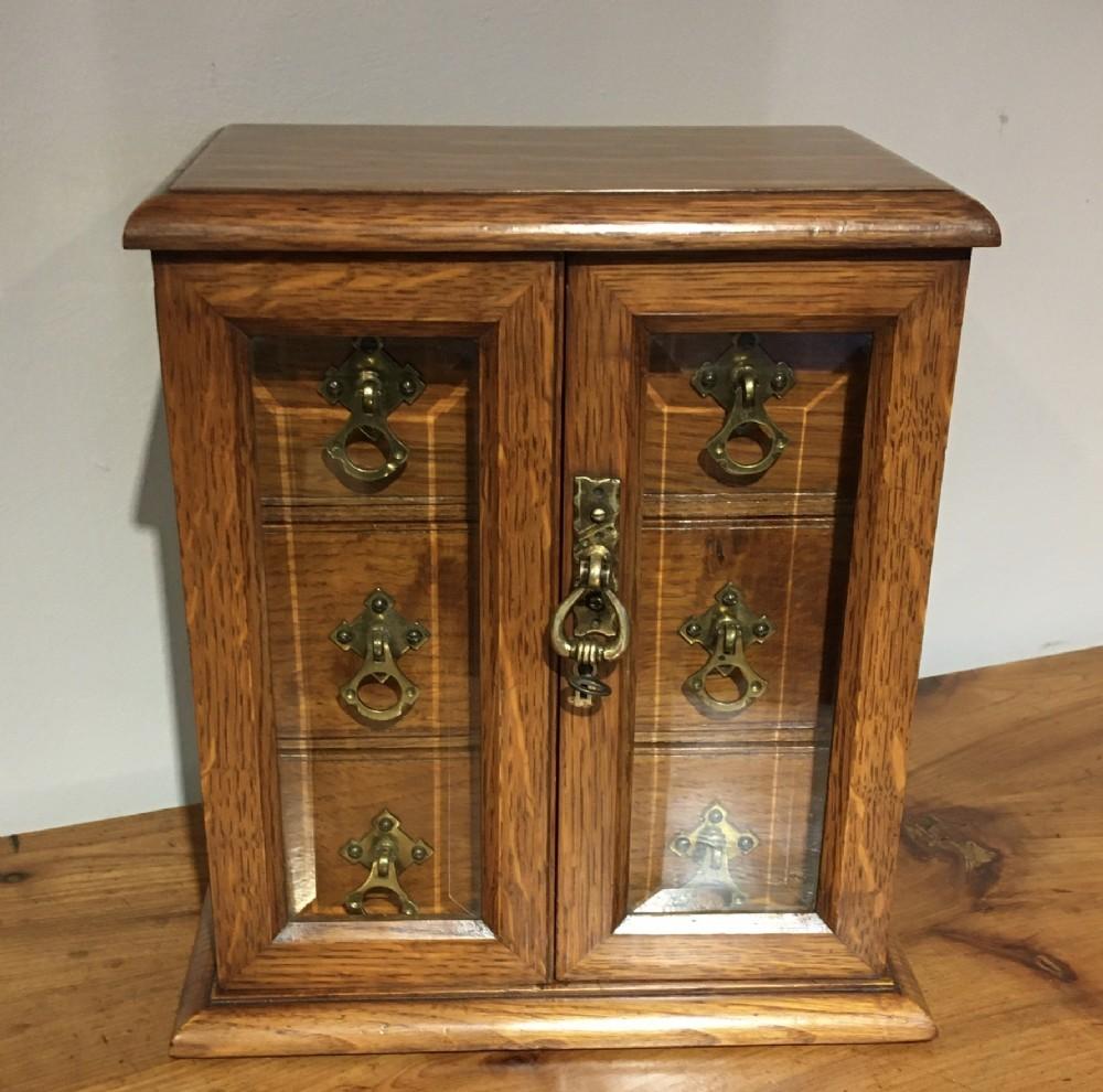 victorian oak table cabinet