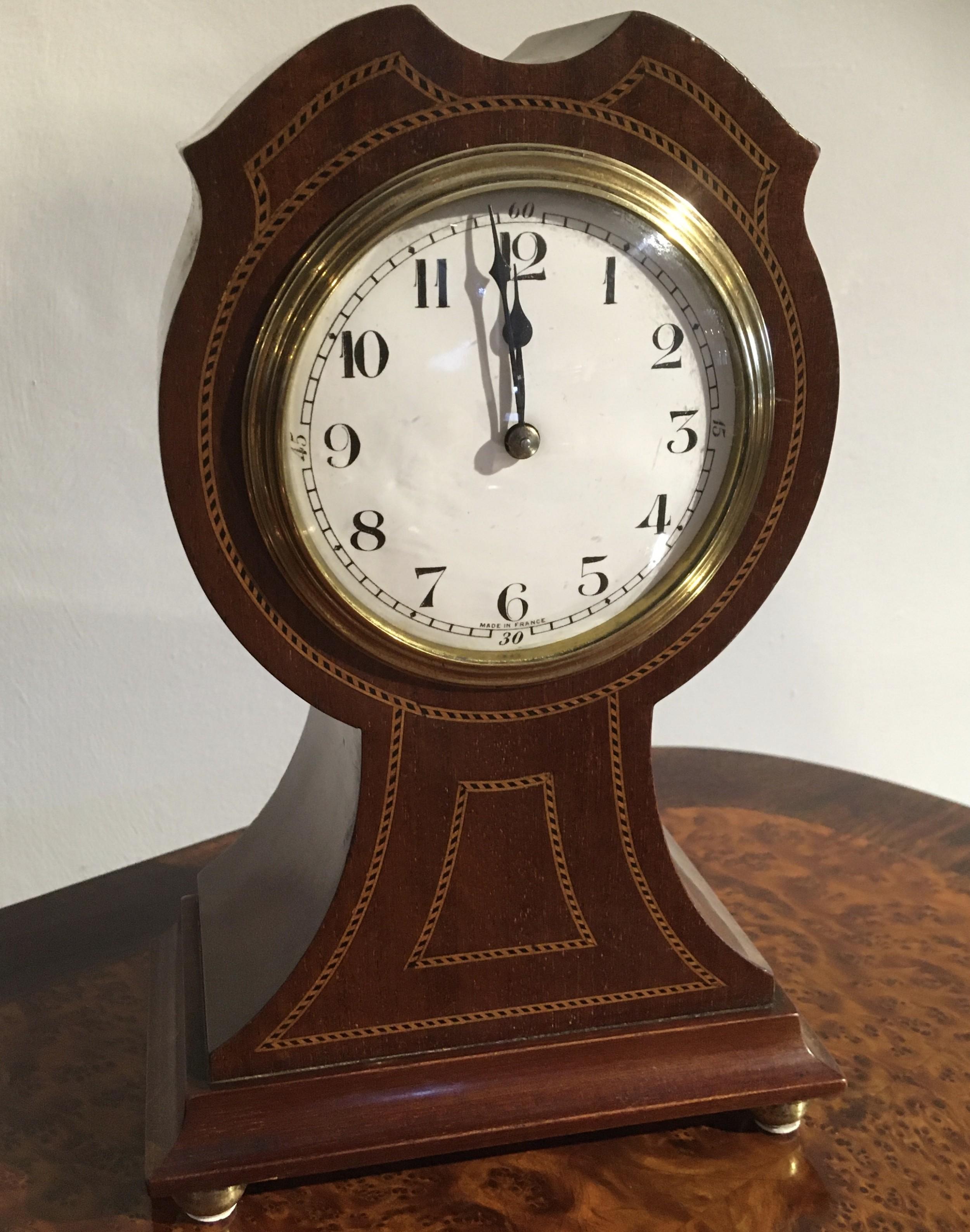 mahogany cased mantel clock
