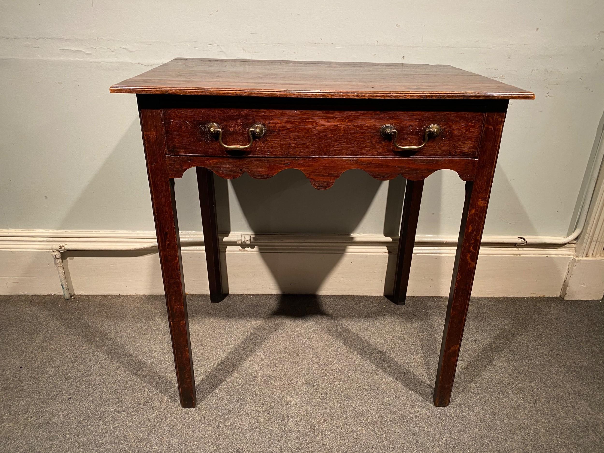 a georgian oak side table