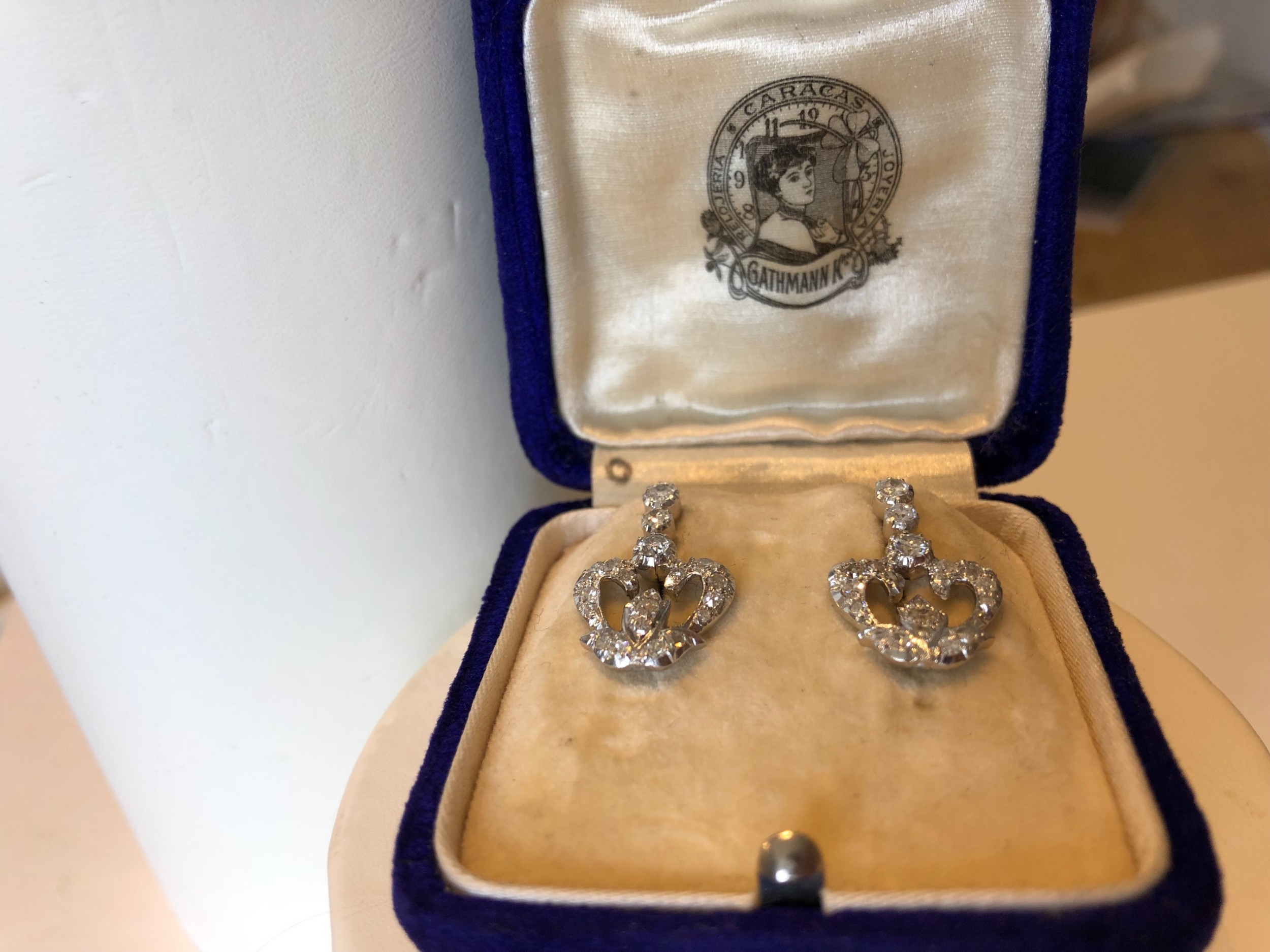 victorian diamond earrings