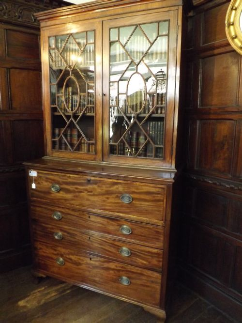 late c18th george iii period mahogany secretaire bookcase