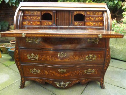 late c18th dutch marquetry walnut bureau