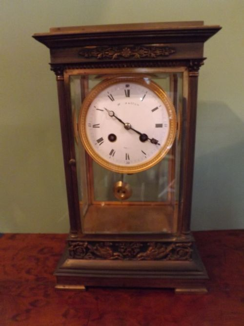 late c19th french bronzecased empirestyle mantel clock