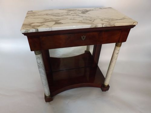 early c19th french empirestyle mahogany consolepier table