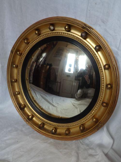 c19th regency period convex mirror