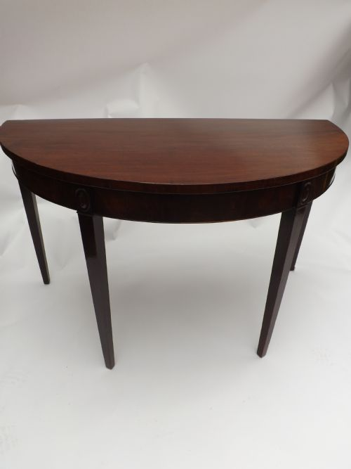 c18th george iii period mahogany demilune pier table