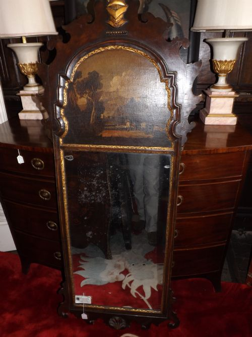 c19th georgian revival mahogany and parcel gilt pier mirror