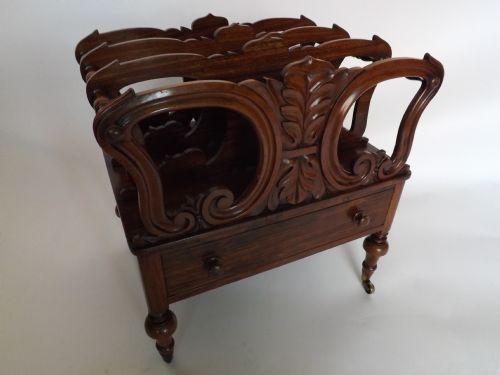 c19th william iv period carved rosewood canterbury