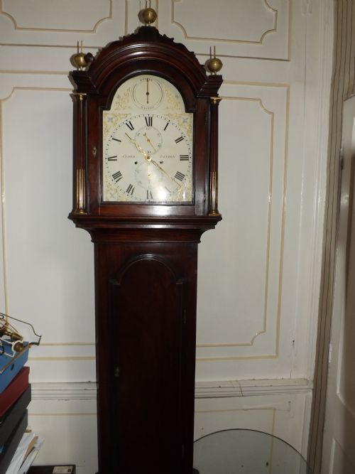 c18th george iii period mahogany longcase clock