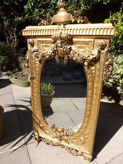 late c19th french giltwood mirror