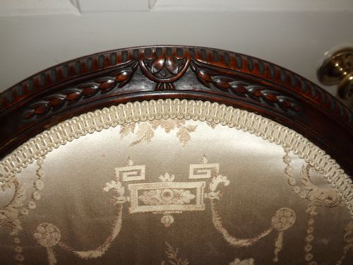 Late C19th Early C20th George Iii Style Carved Mahogany